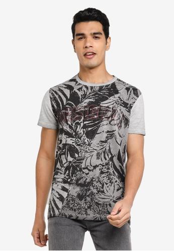 Desigual grey Tropical Printed T-Shirt 11372AAE06D3D0GS_1