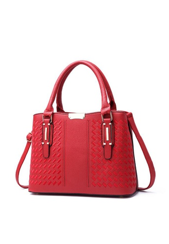 TCWK red TCWK Korea Style Women Fashion Ladies Handbag - Red F0D81AC85E3C5DGS_1