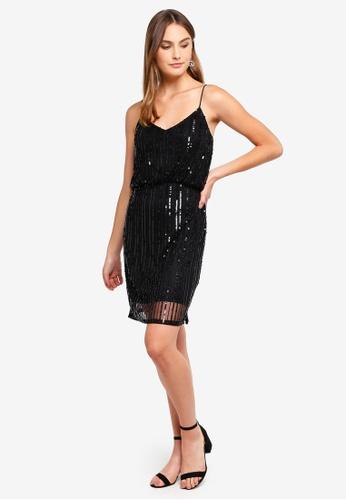 b959fa215e11 Buy French Connection Aster Shine Strappy Embellished Dress Online on  ZALORA Singapore
