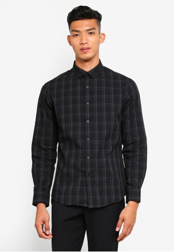 threads by the produce black Checkered Shirt With Pocket 351AEAA08635A8GS_1