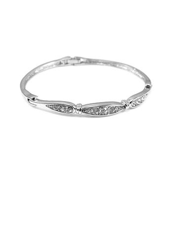 Glamorousky silver Elegant Bangle with Silver Austrian Element Crystal 85D9DAC4DCE182GS_1