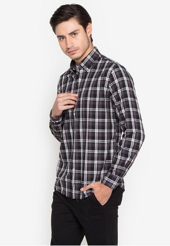 Cortefiel grey Tartan Plaid Shirt C0491AAAECE0ACGS_1