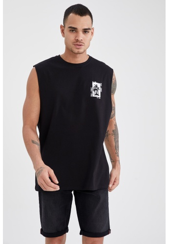DeFacto black Sleeveless Cotton T-shirt 54EFAAA8320FB0GS_1