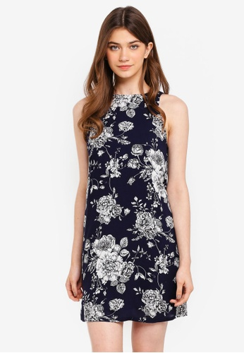Something Borrowed navy Sleeveless Shift Dress D4426AA5075053GS_1