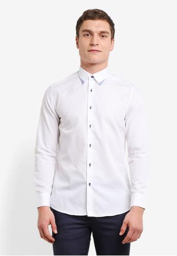G2000 white Button Detail Long Sleeve Shirt G2754AA0SHB7MY_1