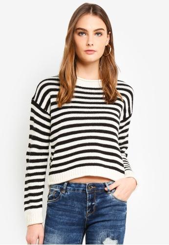 OVS white Striped Knit Pullover 6E047AA2F31429GS_1