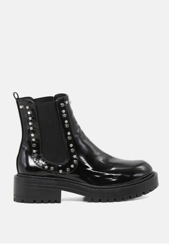 RAG & CO 黑色 黑漆皮Chelsea靴子 SH1743 20C33SH2928D15GS_1