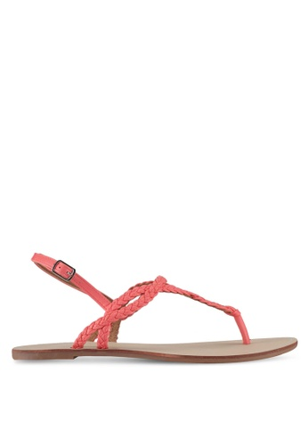 ONLY red Onlmargit Braided Sandal BA38BSH23C9812GS_1