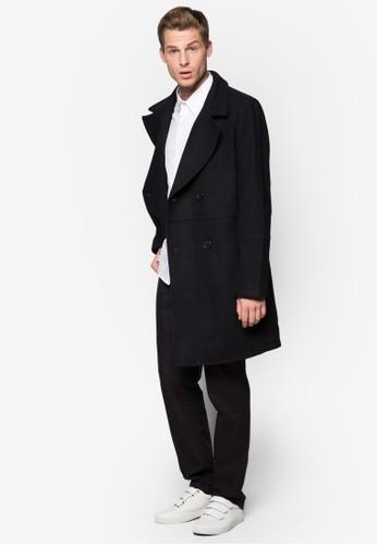 雙排鈕羊毛長版外套esprit台灣官網, 服飾, 外套
