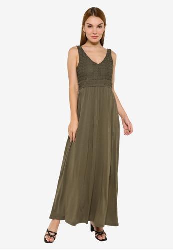 JACQUELINE DE YONG green Sandy Sleeveless Dress 282F1AA98596F9GS_1