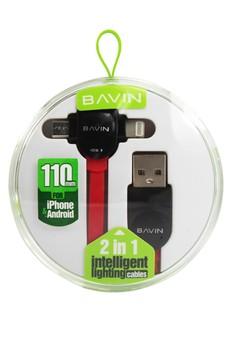 Bavin CA186 110mm 2 in 1 Lightning Data Cable