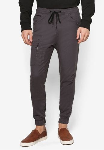 Cotton On grey Customised Drake Cuffed Pants CO372AA92HHBMY_1