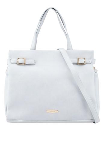 Perllini&Mel grey Faux Leather Document Handbag 8677CAC79F783EGS_1