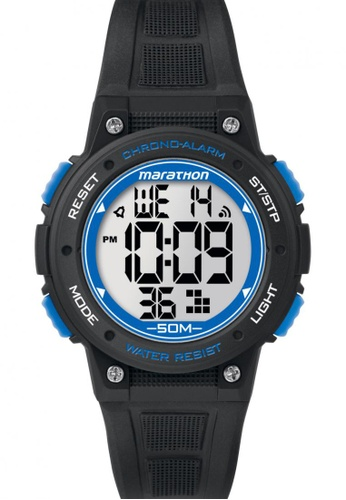 TIMEX black Timex Marathon® - Digital Mid-Size Black Resin Strap Watch TI857AC86CNXSG_1