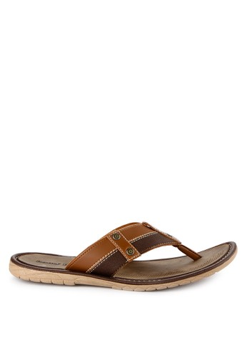 Homyped brown Confero 01 Men Sandals 46043SH2562DC7GS_1