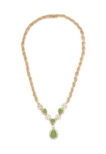 Jewelplace gold Emerald Agate Statement Necklace JE882AC54KJDPH_1