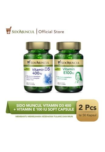 Sido Muncul green Sido Muncul Vitamin D3 400 + Vitamin E 100 IU Soft Capsule 95CA2ESF624D60GS_1
