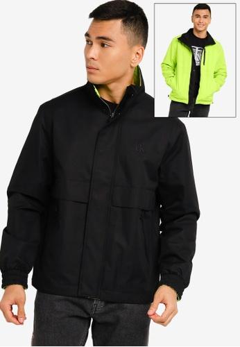 Calvin Klein black Reversible Pop Logo Stand Jacket - CK Jeans FD413AA4C4E71CGS_1