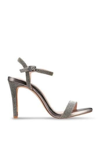 nose grey Glitter High Heel Sandals 12F16SHC4D0D08GS_1
