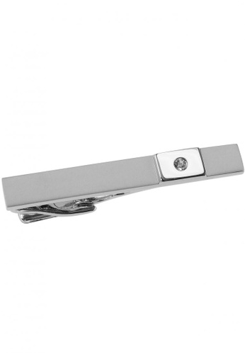 CUFF IT silver 50mm Rectangular Infinity Engravable Tie Clips CU047AC69CZQHK_1