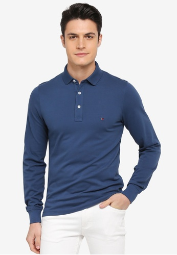 Tommy Hilfiger blue TOMMY SLIM POLO L/S 4CC2CAAC32457BGS_1