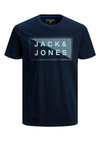 Jack & Jones navy Shawn Organic Cotton Tee 150FEKA177515BGS_1