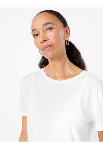 MARKS & SPENCER white M&S Relaxed Fit T-Shirt 76212AA6992D6CGS_1
