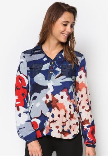 Holaesprit 價位 印花長袖上衣, 服飾, 上衣
