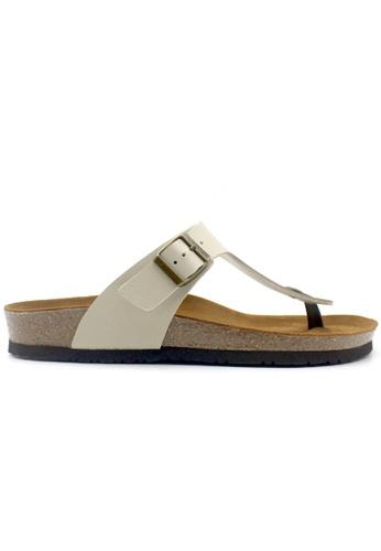 SoleSimple 米褐色 Rome - 米白色 百搭/搭帶 軟木涼鞋 29D9FSHEC9467FGS_1
