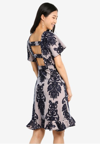 Megane navy Red Romance Louella Dress 1EA3BAA2953856GS_1