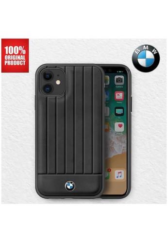 """BMW black BMW - Leather Lines Back Case / Casing IPhone 11 6.1"""" - Black 52D96ES3545C45GS_1"""