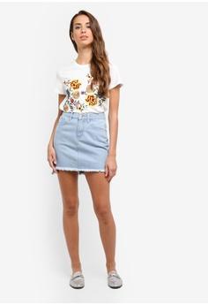 ZALORA Mini Skirt With Slits S$ 39.90 NOW S$ 27.90 Sizes XS S M L