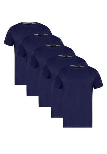 UniqTee navy UniqTee Solid Tee Weekdays Pack UN097AA50JJLMY_1