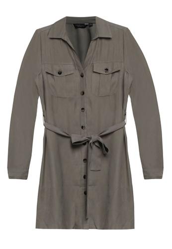 Dorothy Perkins brown Khaki Utility Shirt Style Dress 745B1AAEAE36ECGS_1