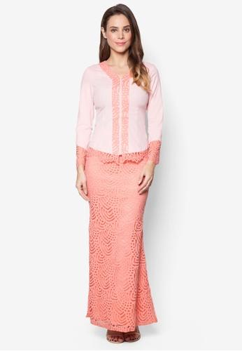 VERCATO pink Baju Kurung Lace - Vercato Maya VE999AA79AOMMY_1