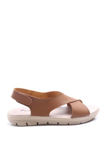 Dr. Kevin brown Dr. Kevin Women Flat Sandals 26118 - Brown DR982SH40AXJID_1