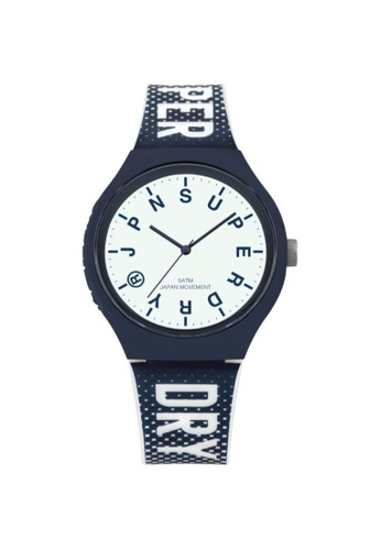 Superdry white and blue Superdry SYG224U Men's Watch 61960ACFF068E3GS_1