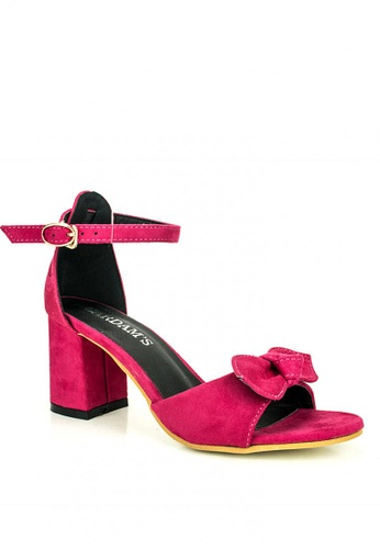 Cardam's Lifestyle red Joice Heeled Sandals 26E1BSHEBAB260GS_1