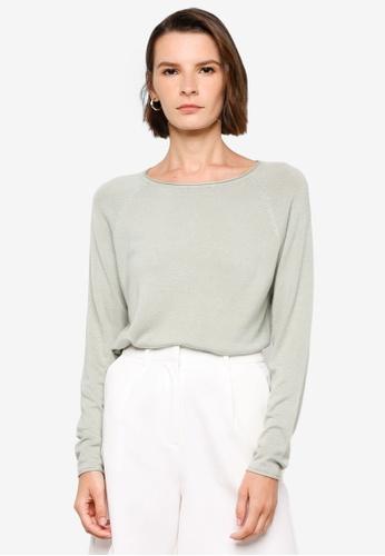 Vero Moda green Nellie Long Sleeve Top 082AEAAE16EB1DGS_1