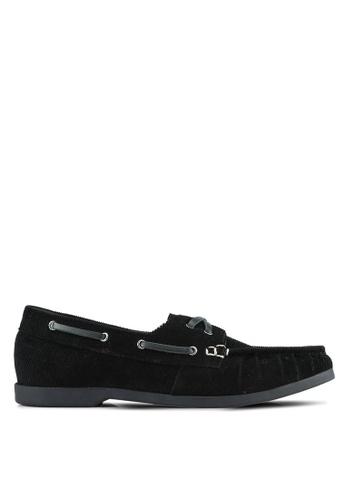 JAXON black Corduroy Boat Shoes DC327SHC811E45GS_1