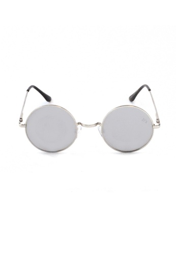 2i's to eyes silver Sunglasses Polarized│Vintage Round│Silver Lens│UV400 Protection│2is OriS 4398CGLDCE7617GS_1