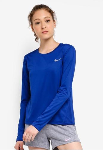 8d49b79e Buy Nike As Women's Nike Miler Long Sleeves Top Online on ZALORA Singapore