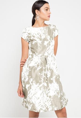 CHANIRA LA PAREZZA white and gold Helga Dress 734EEAAE325BC8GS_1