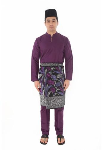 Amar Amran purple Baju Melayu Gumbae 8C2E6AA763FE87GS_1