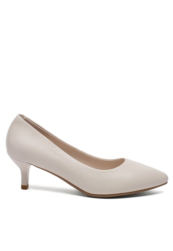 Twenty Eight Shoes white 5CM Leather Uniform Pointy Pumps 1656-1 6238ASHE94D66BGS_1