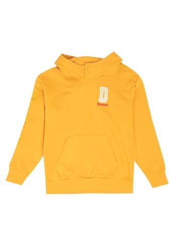 Giordano orange Dreamers Hoodie Tee CAE3DKA3279F64GS_1