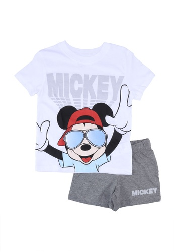 FOX Kids & Baby grey Grey With Mickey T-Shirt And Shorts Set 060CAKA935DC39GS_1