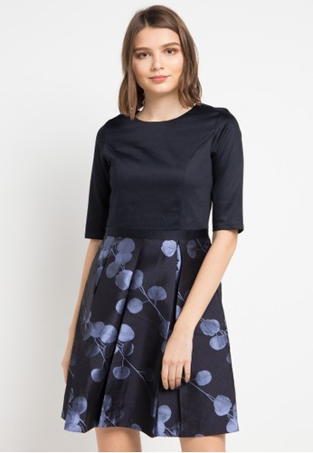 EPRISE black and multi Georgia Dress CB84EAAE6E248BGS_1