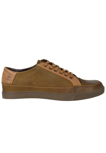 Tomaz brown Tomaz C279 Leather Perforated Sneakers (Brown) F3160SH0FBF6F3GS_1