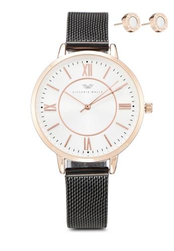 Victoria Walls Watches black Designer Watch-Elegant Milanese Mesh Strap 15FB6AC81D70A9GS_1